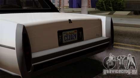 GTA 5 Albany Emperor для GTA San Andreas вид справа
