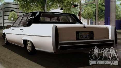 GTA 5 Albany Emperor для GTA San Andreas вид слева