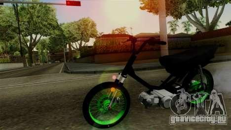 Honda Wave Desarmada Stunt для GTA San Andreas