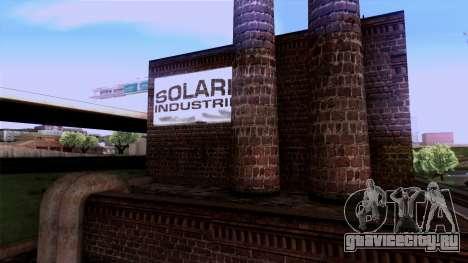 HQ Textures San Fierro Solarin Industries для GTA San Andreas четвёртый скриншот
