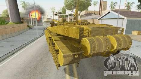 T-90MS CoD Ghost для GTA San Andreas вид слева
