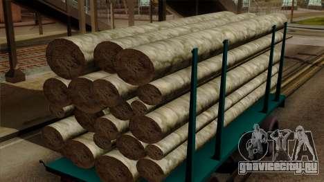 GTA 5 Fieldmaster Wood Trailer для GTA San Andreas вид справа