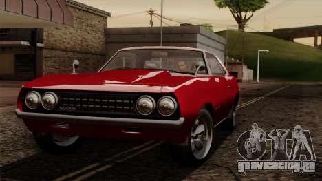 GTA 5 Declasse Vigero IVF для GTA San Andreas вид изнутри
