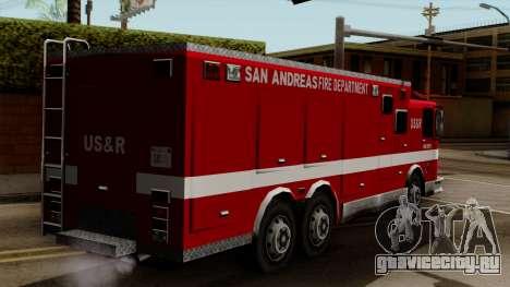 FDSA Urban Search & Rescue Truck для GTA San Andreas вид слева