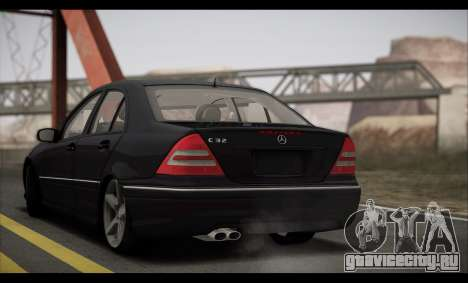 Mercedes-Benz C32 W203 2004 для GTA San Andreas вид изнутри