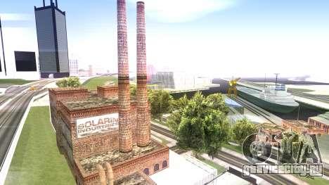 HQ Textures San Fierro Solarin Industries для GTA San Andreas второй скриншот