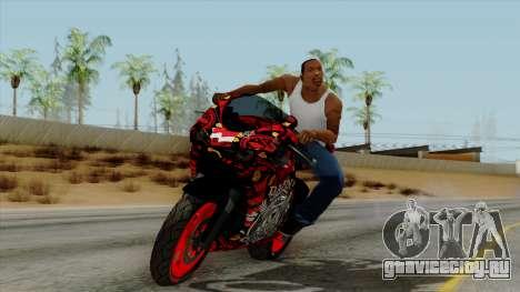 Bati Batik Motorcycle v2 для GTA San Andreas вид сзади слева