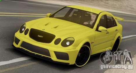 Mercedes-Benz E63 Qart Tuning для GTA San Andreas вид сзади слева