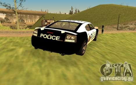 Dodge Charger Super Bee 2008 Vice City Police для GTA San Andreas вид слева