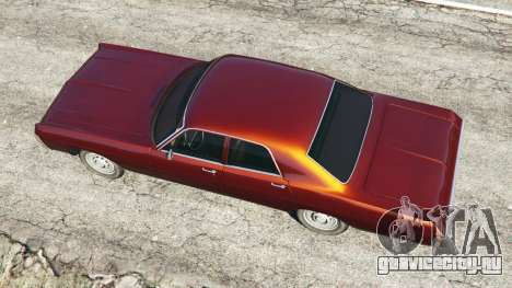 Dodge Polara 1971 для GTA 5 вид сзади