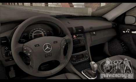 Mercedes-Benz C32 W203 2004 для GTA San Andreas вид снизу