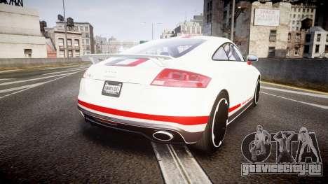 Audi TT RS 2010 Quattro для GTA 4 вид сзади слева