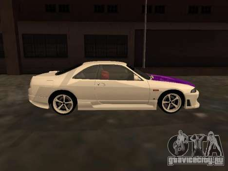 Nissan Skyline R33 Drift Monster Energy JDM для GTA San Andreas вид изнутри