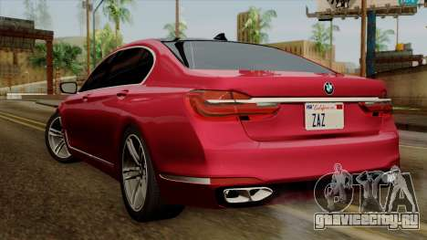 BMW 7 2015 для GTA San Andreas вид слева
