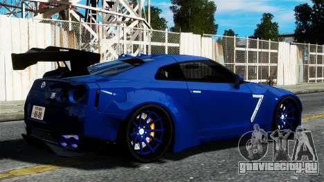 Nissan GT-R R35 Liberty Walk для GTA 4 вид слева