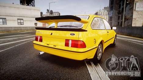 Ford Sierra RS500 Cosworth v2.0 для GTA 4 вид сзади слева