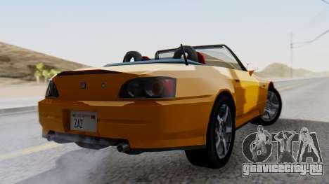 Honda S2000 Fast and Furious для GTA San Andreas вид слева