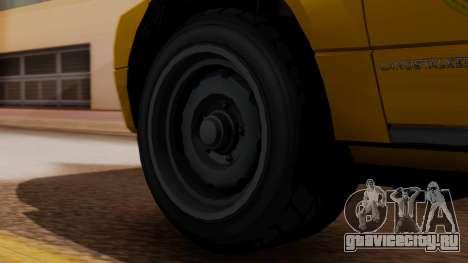 Landstalker Taxi SR 4 Style для GTA San Andreas вид сзади слева