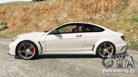 Mercedes-Benz C63 AMG 2012 для GTA 5 вид слева
