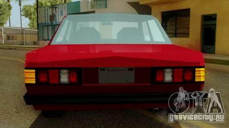 Admiral from Vice City Stories IVF для GTA San Andreas вид сверху