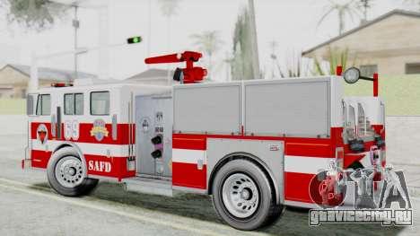 MTL SAFD Firetruck Flat Shadow для GTA San Andreas вид слева