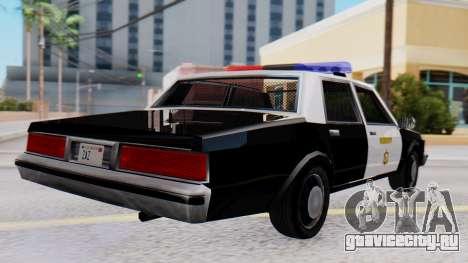 Chevrolet Caprice 1980 SA Style LVPD для GTA San Andreas вид слева