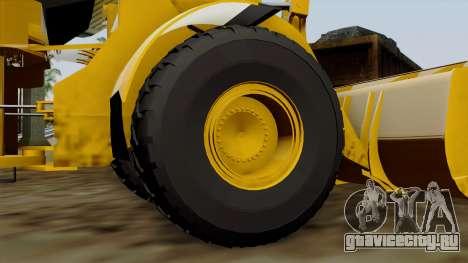GTA 5 HVY Dozer для GTA San Andreas вид сзади слева
