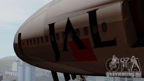 DC-10-30 Japan Airlines для GTA San Andreas вид сзади