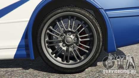 BMW M3 GTR E46 Most Wanted v1.3 для GTA 5 вид сзади справа