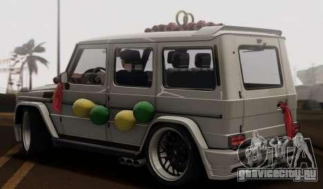 Mercedes Benz G65 Hamann Tuning Wedding Version для GTA San Andreas вид сзади