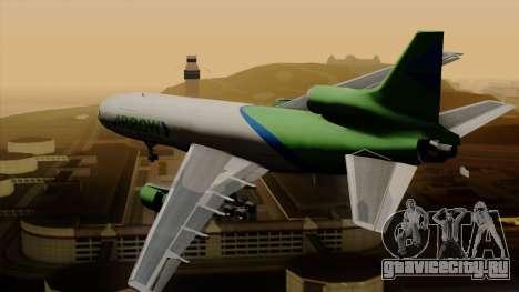 Lockheed L-1011 TriStar Arrow Air Cargo для GTA San Andreas вид слева