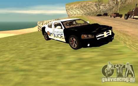 Dodge Charger Super Bee 2008 Vice City Police для GTA San Andreas вид справа
