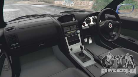Nissan Skyline R34 GT-R v0.1 для GTA 5 вид сзади справа