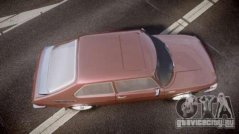 Saab 99 Turbo для GTA 4 вид справа