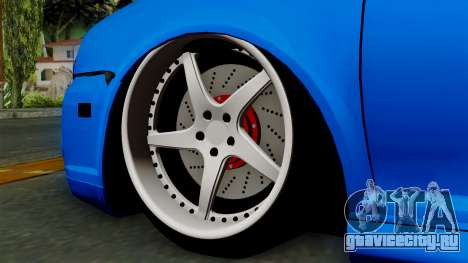 Volkswagen Golf Mk4 Stance для GTA San Andreas вид сзади слева