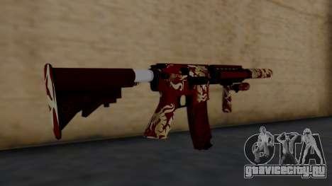 M4A1 Royal Dragon для GTA San Andreas второй скриншот