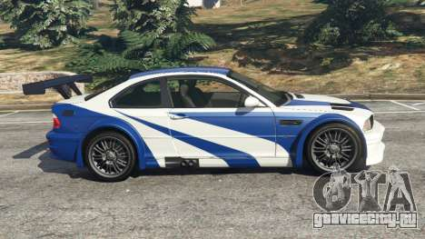 BMW M3 GTR E46 Most Wanted v1.3 для GTA 5 вид слева