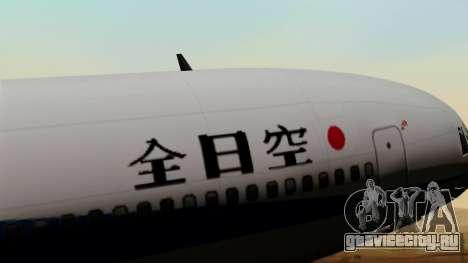 Lockheed L-1011 TriStar All Nippon Airways для GTA San Andreas вид сзади