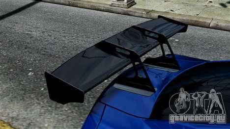 Nissan GT-R R35 Liberty Walk для GTA 4 вид справа
