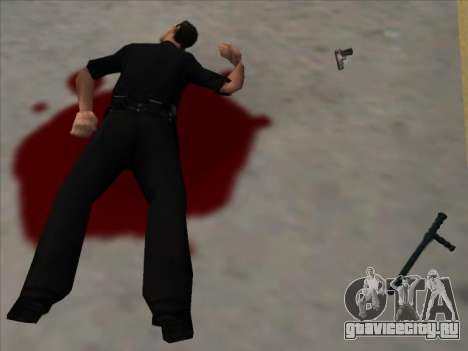 Weapons on the Ground для GTA San Andreas второй скриншот