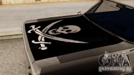 Винил для Savanna - Пиратский окрас для GTA San Andreas вид справа
