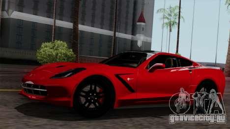 Chevrolet Corvette C7 Stingray 1.0.1 для GTA San Andreas салон