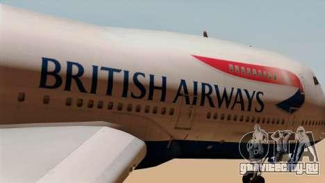 Boeing 747 British для GTA San Andreas вид сзади