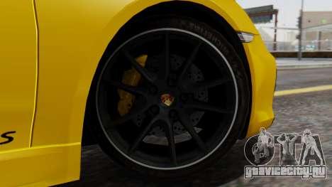 Porsche Boxter GTS 2016 для GTA San Andreas вид сзади слева