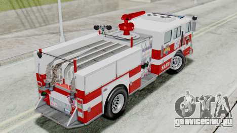MTL SAFD Firetruck Flat Shadow для GTA San Andreas вид сзади слева