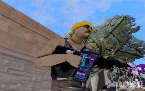 M4A1 Color для GTA San Andreas второй скриншот