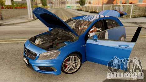 Mercedes-Benz A45 AMG 2012 PJ для GTA San Andreas вид сзади
