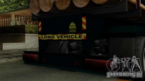 Trailer Log v2 для GTA San Andreas вид сзади