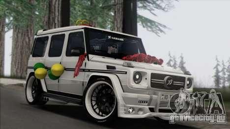 Mercedes Benz G65 Hamann Tuning Wedding Version для GTA San Andreas вид сзади слева