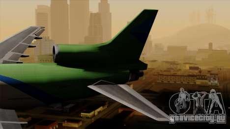 Lockheed L-1011 TriStar Arrow Air Cargo для GTA San Andreas вид сзади слева